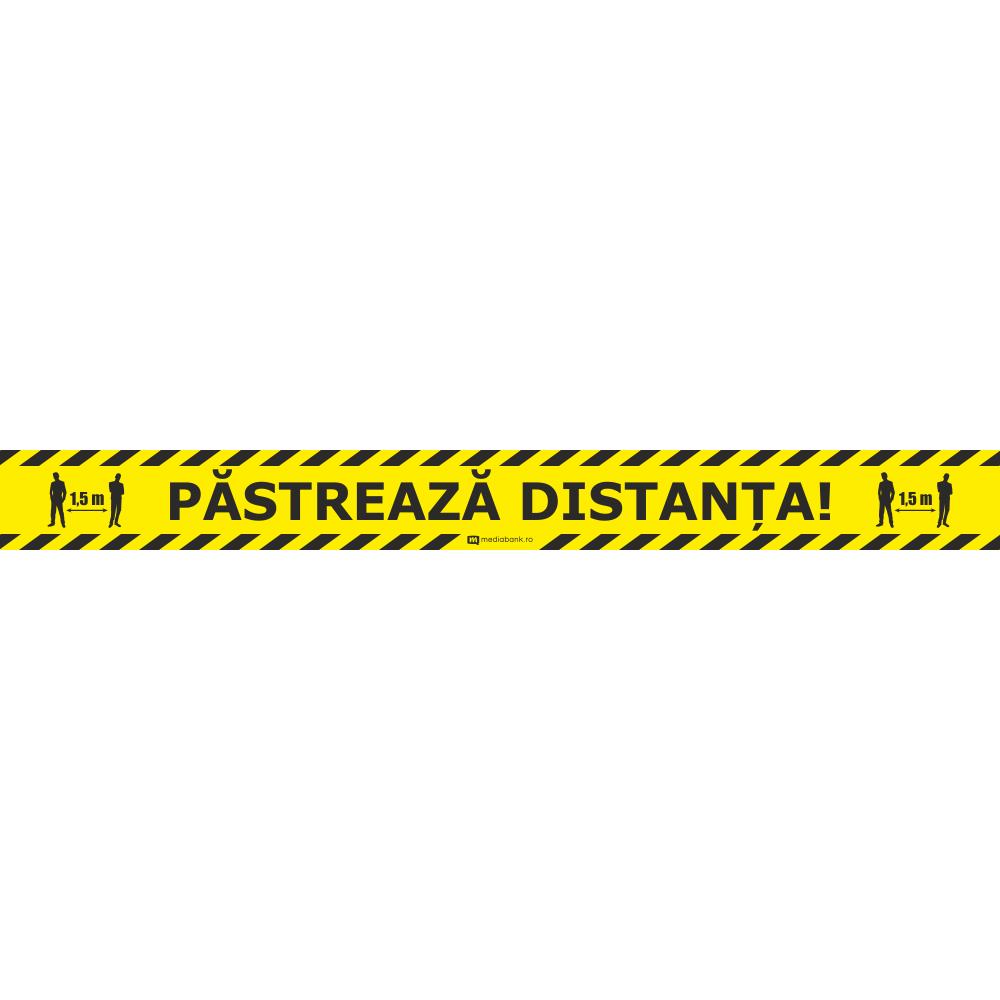 Patreaza Distanta - Autocolant Podea