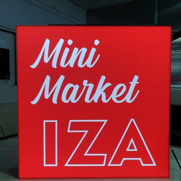 Casetă luminoasă cu 2 fețe - MiniMarket