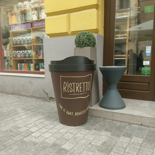 Coș de gunoi în formă de pahar 2 go