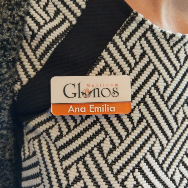 Ecusoane nume angajat + logo companie