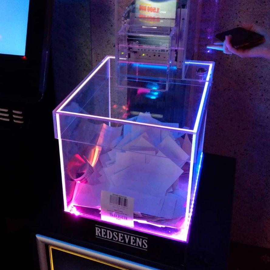 Urnă luminoasă cu imprimantă integrată - front