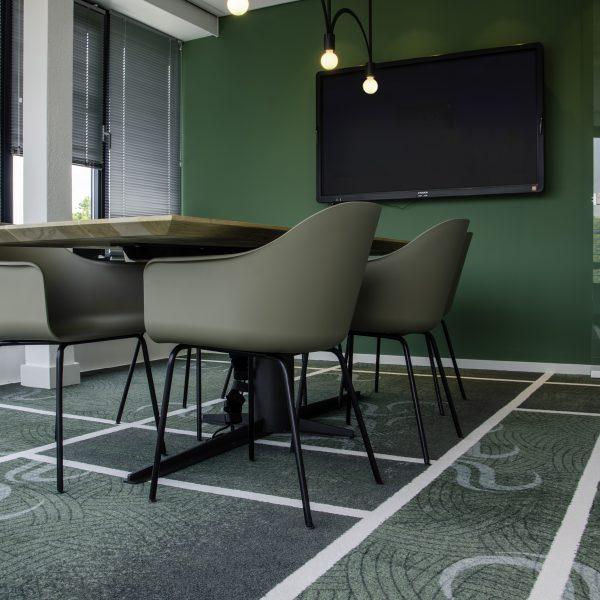 Mochetă personalizată multi-verde birou