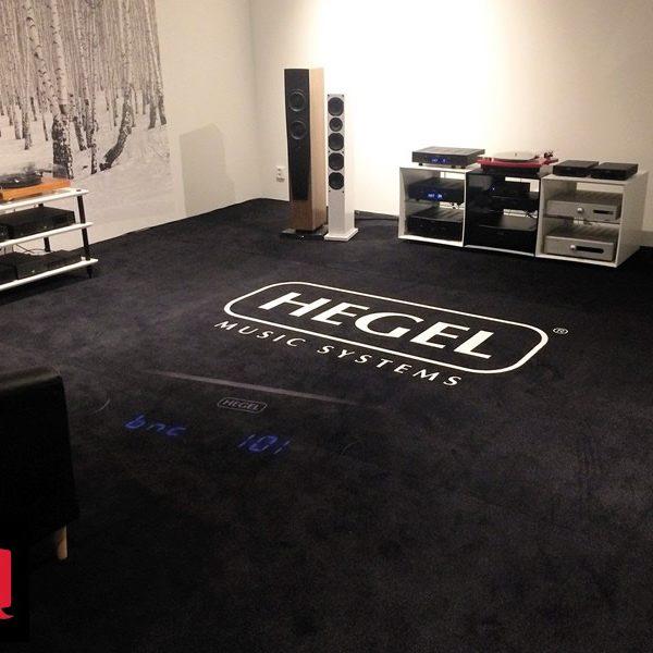 Mochetă personalizată magazin audio