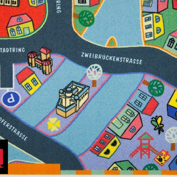 Mochetă, covor personalizat pentru copii, hartă